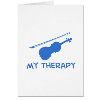 Viola my therapy designs greeting card