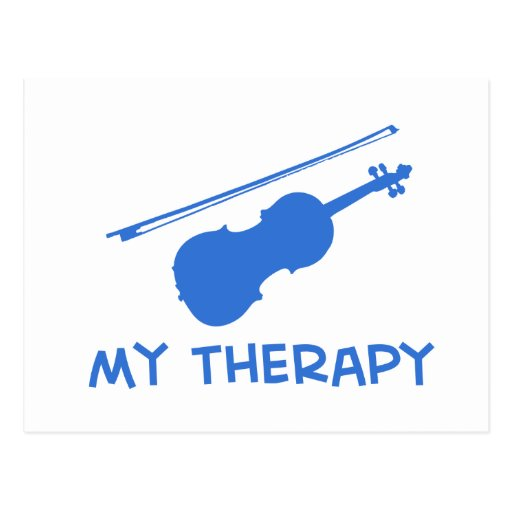 Viola my therapy designs post card