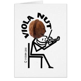 Viola Nut Greeting Card