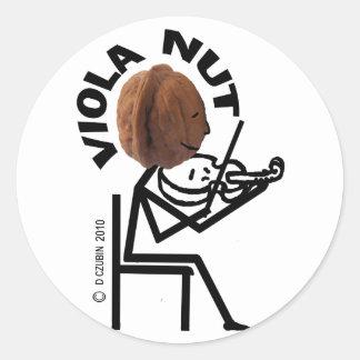 Viola Nut Classic Round Sticker