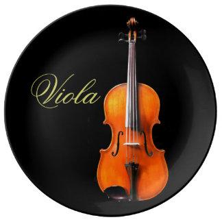 Viola Plate by Leslie Harlow