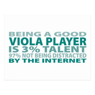 Viola Player 3% Talent Postcard