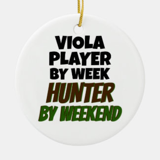 Viola Player by Day Hunter by Weekend Christmas Ornament
