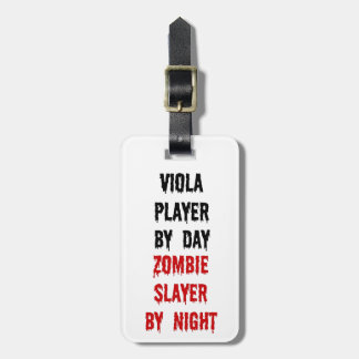 Viola Player Zombie Slayer Luggage Tag