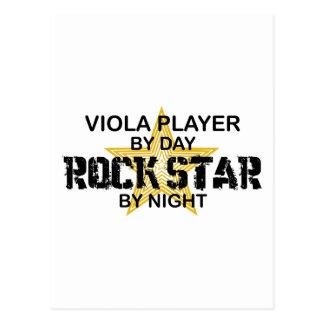 Viola Rock Star by Night Postcard