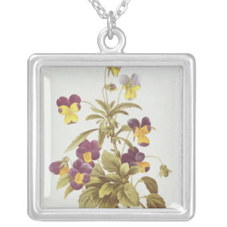 Viola Tricolour Silver Plated Necklace