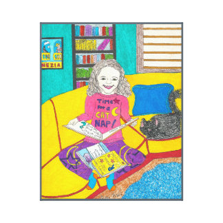 Viola's Favourite Books, art on canvas Canvas Print