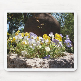 Violas In A Stone Trough. Mouse Pad