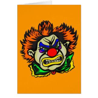 Violent Evil Clown Greeting Card