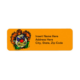 Violent Evil Clown Return Address Label