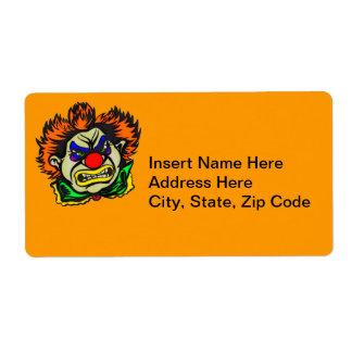 Violent Evil Clown Shipping Label