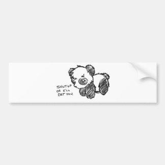 Violent Panda Bumper Sticker