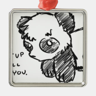 Violent Panda Christmas Ornament