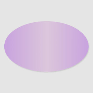 Violet 1 - Thistle and Lavender Gradient Oval Sticker