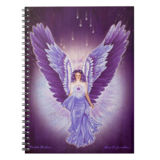 Violet Amethyst Angel Notebook