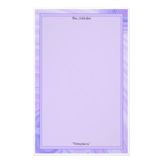 Violet and Blue Line Borders Stationery