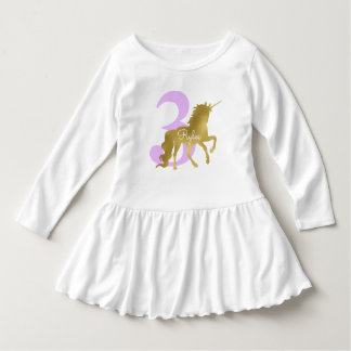 Violet and Gold Unicorn Milestone Birthday Dress