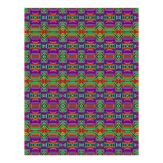 Violet And Green Grid Pattern. Elegant Design Flyer