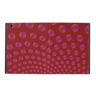 Violet and Red Bubbles iPad Case