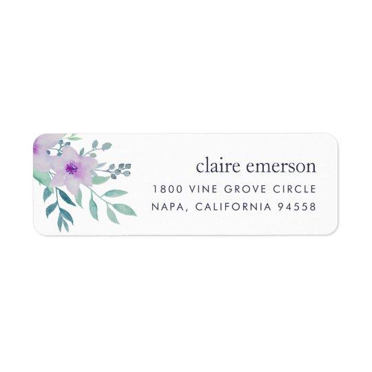 Violet and Sage Floral Return Address Return Address Label