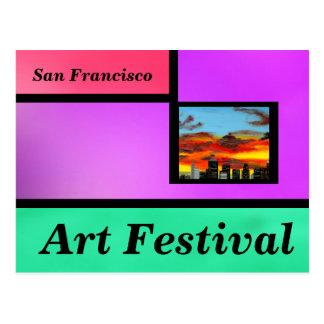 Violet Art Festival Postcard