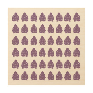 Violet Asian Moods Buddah Boys Wood Print
