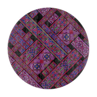 Violet Aurora Stained Glass Chopping Board