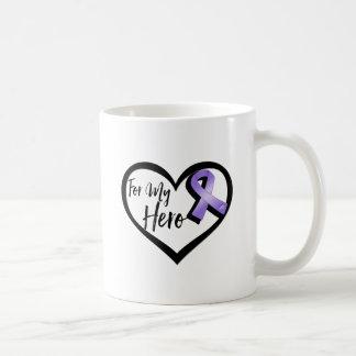 Violet Awareness Ribbon For My Hero Basic White Mug