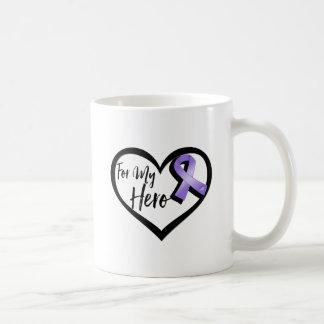 Violet Awareness Ribbon For My Hero Coffee Mug