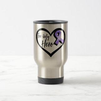 Violet Awareness Ribbon For My Hero Stainless Steel Travel Mug