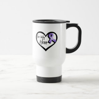 Violet Awareness Ribbon For My Hero Travel Mug