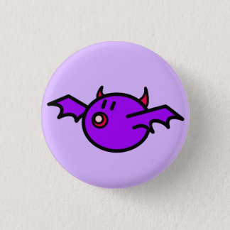 Violet Bat 3 Cm Round Badge