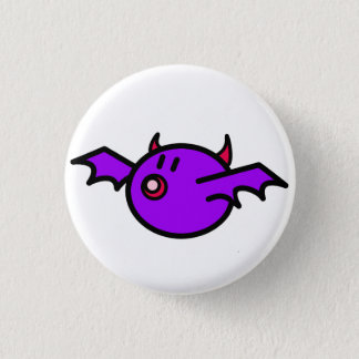 Violet Bat (White background) 3 Cm Round Badge