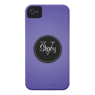 Violet , Black Circle Monogrammed iPhone 4/4s Case-Mate iPhone 4 Cases