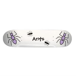 Violet & Black Vector Ants Skateboard Decks