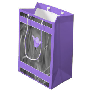 Violet Blue Bluebell (Harebell) Wildflower Medium Gift Bag