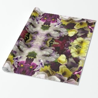 Violet Blue Pansies Wrapping Paper