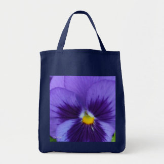 Violet Blue Pansy Tote Bag