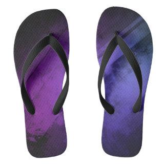 Violet Blue Purple Flip Flops