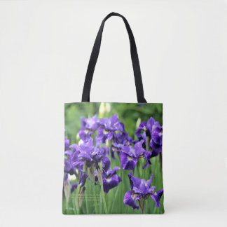 Violet Blue Siberian Iris, Ceasar's Brother Tote Bag