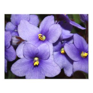 Violet Boquet 11 Cm X 14 Cm Invitation Card