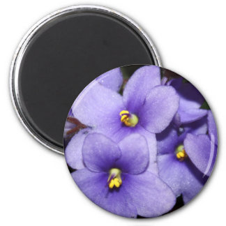 Violet Boquet 6 Cm Round Magnet