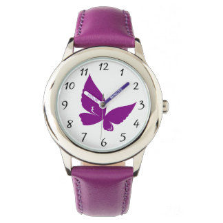 Violet Butterfly Watch