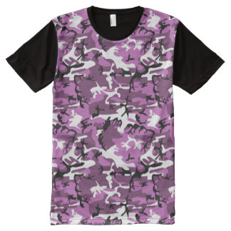 Violet Camo All-Over Print T-Shirt
