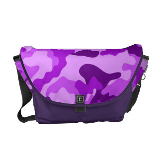 Violet Camo Pattern Messenger bag