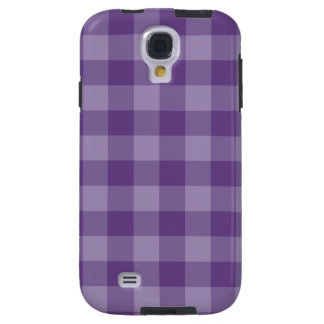 Violet checkered background galaxy s4 case