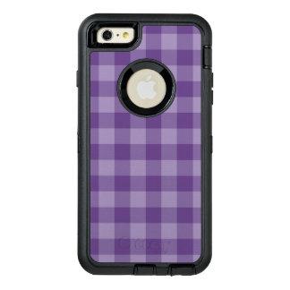 Violet checkered background OtterBox defender iPhone case