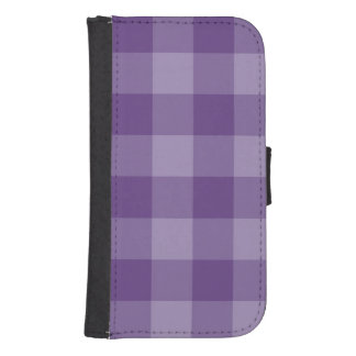 Violet checkered background samsung s4 wallet case