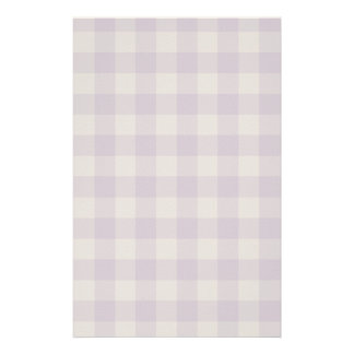 Violet checkered background stationery paper