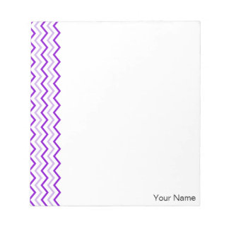 Violet Chevron Vertical Zigzag Personalized Notepad